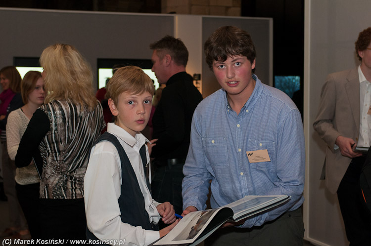 Giving out and collecting autographs with Owen Hearn-Young Wildlife Photographer of the Year 2012